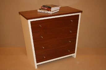 Chest of drawers with painted carcase