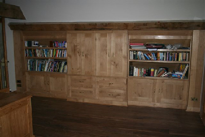 Oak book cases and filing cabinet