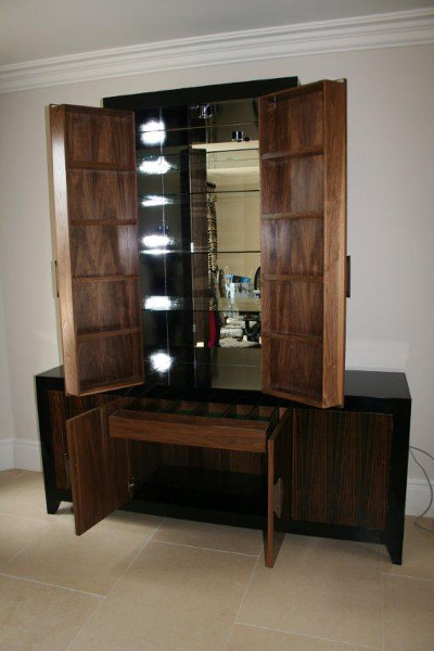 Sideboard with drinks cabinet interior