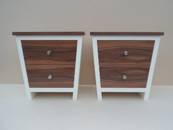 Walnut bedside tables